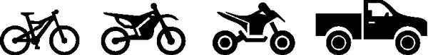 Bicicletas, Moto, Moto 4, Jipes